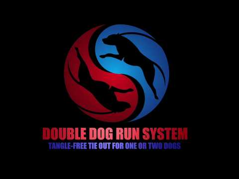 double-dog-run-tangle-free-dog-tie-outs---two-dog-tie-out-system---anti-tangle-dog-tie-out