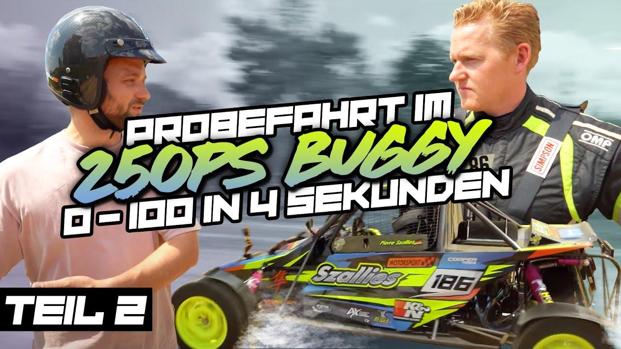 Probefahrt und 0-100 im 250PS Buggy -  Zu Besuch bei Szallies Motorsport - TEIL 2   Philipp Kaess  