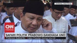 Safari Politik Prabowo-Sandi ke Ponpes Tebuireng