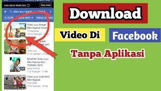 Gambar cover Cara Download Video Di Facebook Tanpa Aplikasi