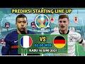 Prediksi Prancis vs Jerman fase grup euro 2021 | prediksi starting line up