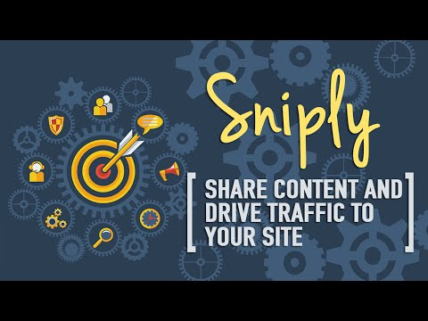 Sniply – Share Content. Drive Traffic To Your Site!