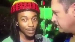 Brother Goes Clean IN with a Caucazoid Savage on LIVE TV!