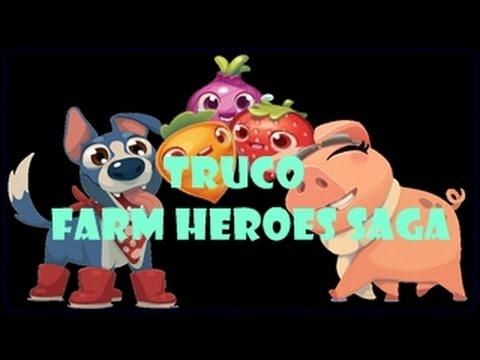 TRUCO FARM HEROES SAGA BOOSTER Y VIDAS INFINITAS