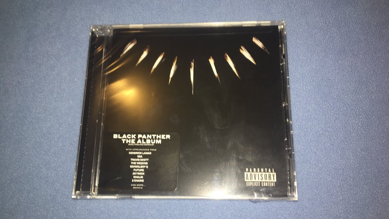silent unboxing black panther the album soundtrack cd youtube
