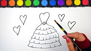Drawing and Coloring for Kids Pretty Ruffle Dress Coloring Pages