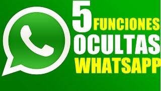 5 Funciones Ocultas de Whatsapp Trucos que No Sabias 2018!!