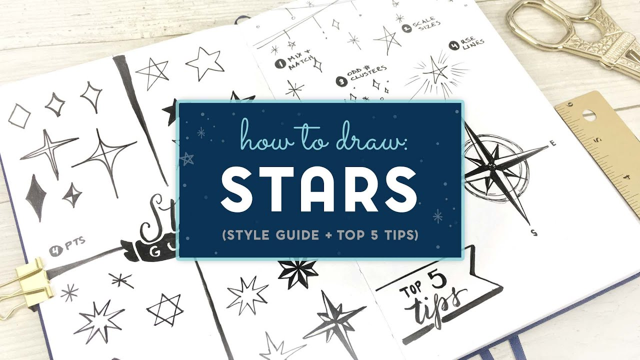 How to Draw Stars  (Style Guide + My Top 5 Illustration Tips)