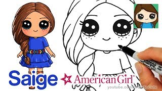 How to Draw Saige Easy | American Girl Doll