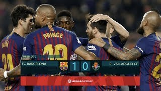 Barcelona vs Real Valladolid [1-0], La Liga 2019 - MATCH REVIEW