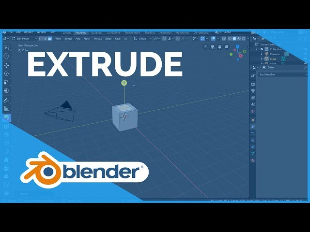 Extrude - Blender 2.80 Fundamentals