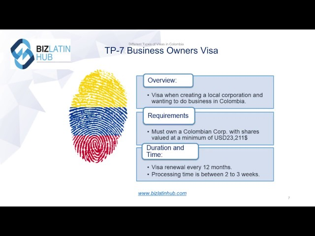 Different Types of Visas in Colombia | Biz Latin Hub