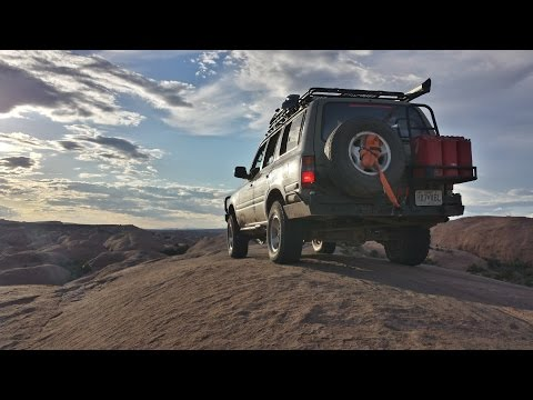 Toyota FZJ80 Land Cruiser, 4Runner, and Chevy 1500 Offroad in Moab