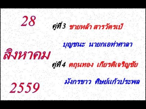 วิจารณ์มวยไทย 7 สี อาทิตย์ที่ 28 สิงหาคม 2559 (คู่ที่ 3,4)