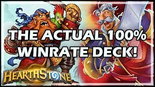 THE ACTUAL 100% WINRATE DECK! - Boomsday / Constructed / Hearthstone