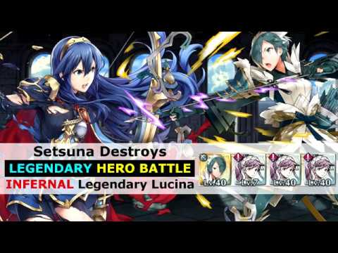 Feh Setsuna Destroys Legendary Lucina Lhb Infernal Hero Battle Fire Emblem Heroes