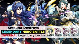 [FEH] Setsuna Destroys Legendary Lucina LHB [INFERNAL Legendary Hero Battle] - Fire Emblem Heroes