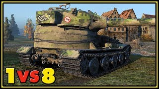 Pz.Kpfw. VII - 12 Kills - 1 VS 8 - World of Tanks Gameplay