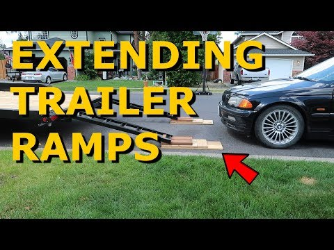 Loading Lowered Car On Trailer Problem - Ramp Extension DIY