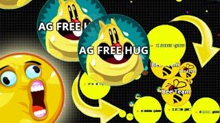 Agar.io Biggest Double Split On Mobile Solo Vs Team Agario Best Moments!