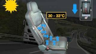 Air-conditioned driver's seat