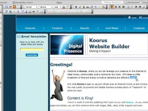 Koorus Web Design & Management System - Your Complete Online Business Control Center