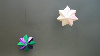 Christmas Origami Instructions: Star