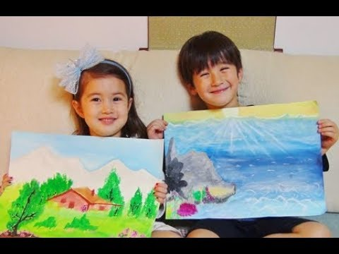 AFTER SCHOOL WATERCOLOR PAINTING with cute funny children! Draw, paint and play!