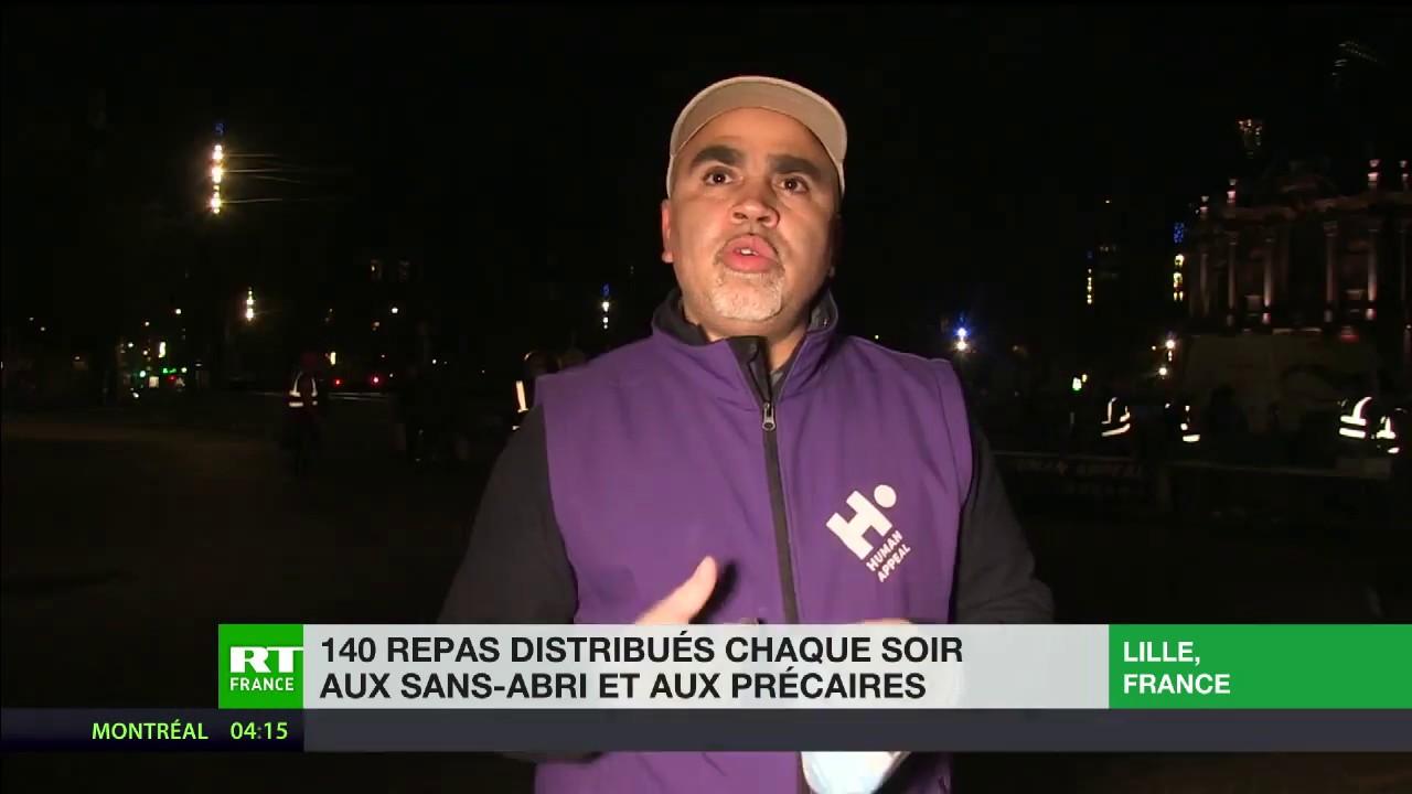 Covid-19 : chaque soir à Lille, un collectif distribue 140 repas aux sans-abri