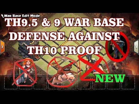 New War Base TH9.5 & 9 Anti3-star Defense Against Th10 Proof Replays