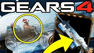 Gears of War 4 - New Gearsmas Character teased, New Snowglobe Weapon Skins & How to get them!
