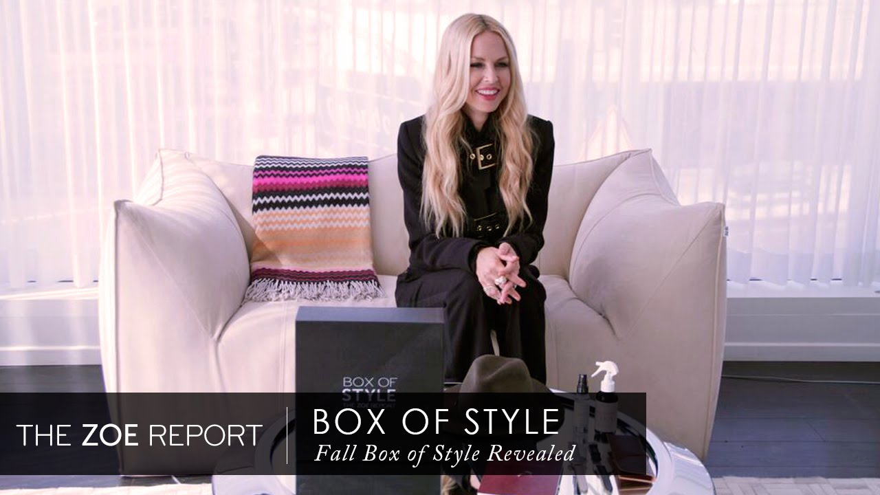 Fall box of style revealed the zoe report by rachel zoe The zoe report