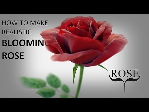 Blender tutorial: How to make realistic blooming rose (part 1)