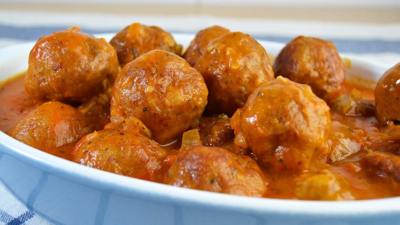 Cocinar Albondigas Caseras | Albondigas De Pavo Y Pollo En Salsa Recetas De Cocina Youtube