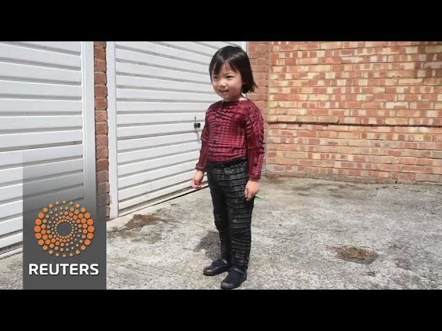Origami-inspired kids clothes grow as they do