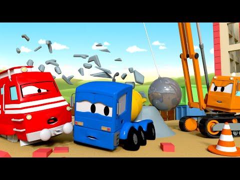 Troy o Trem - Dane o guindaste de demolição - Cidade do Trem | Desenhos animados para Crianças  🚄
