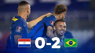 Парагвай  0-2  Бразилия видео