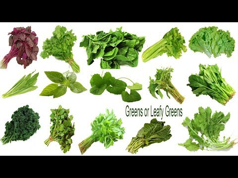 Greens Or Leafy Greens Names, Meaning & Picture | শাক নাম । English Necessary Vocabulary