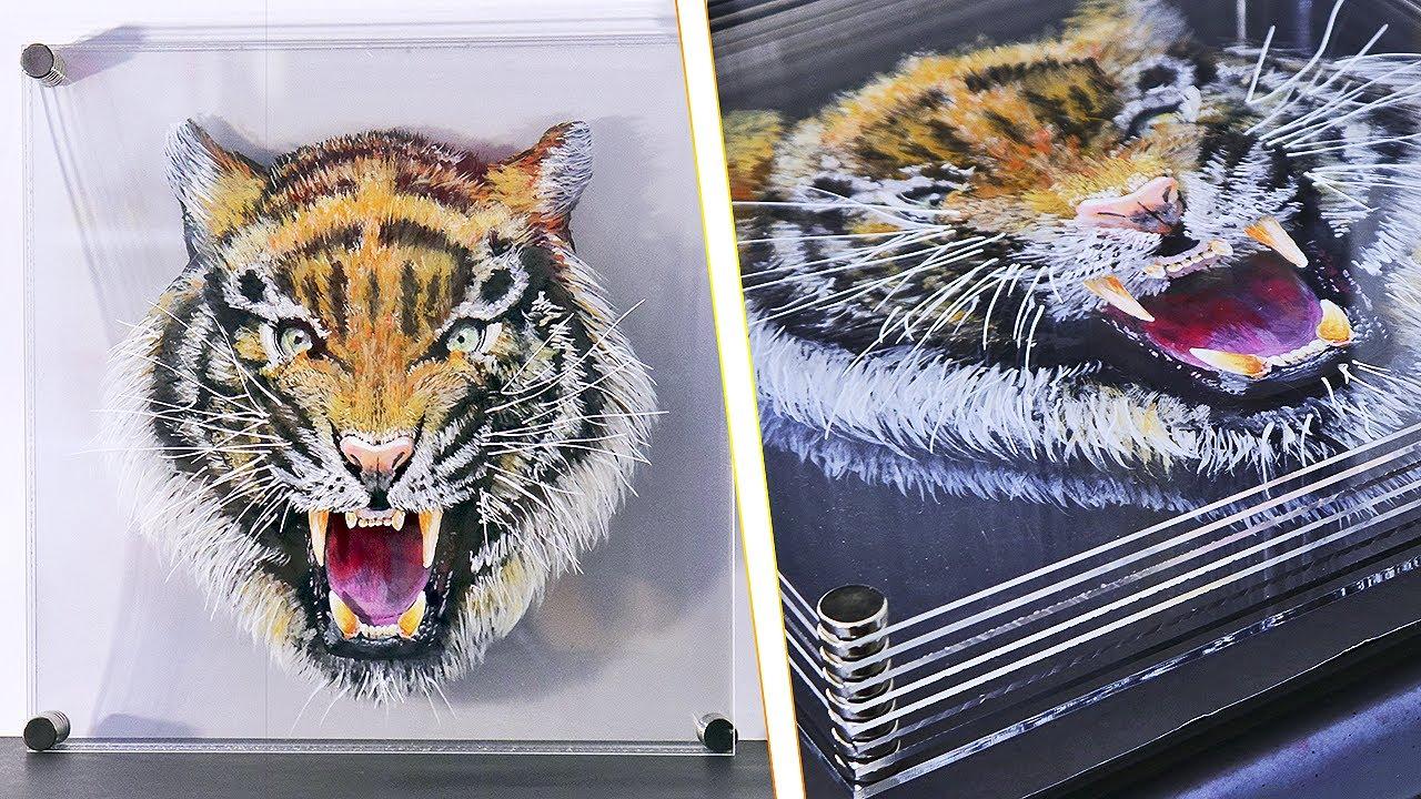 ¡Cómo hacer un Tigre con increíble efecto 3D por capas! | Animal 3D con aspecto realista