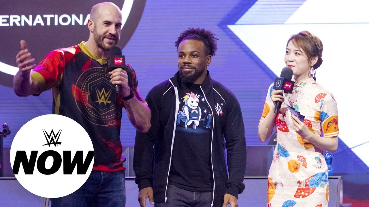 Xavier Woods & Cesaro take centerstage at the League of Legends Playoffs in  Shanghai: WWE Now