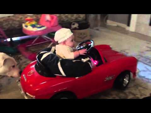 Baby drives 'Mercedes' car like a pro
