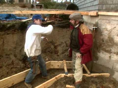 How to Build Foundation  - Greenhouse in Boston, MA -  Bob Vila eps.1002