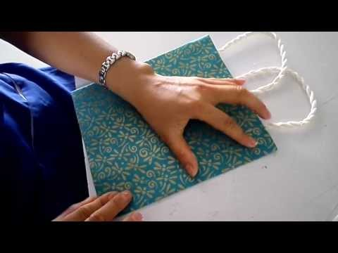 การทำถุงด้วยกระดาษสา
