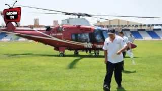 Kalp krizi geçiren hastanın imdadına helikopter ambulans yetişti
