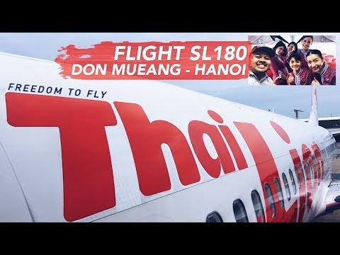 THAI LION AIR Flight Vlog SL180 Don Mueang to Hanoi + Giveaway