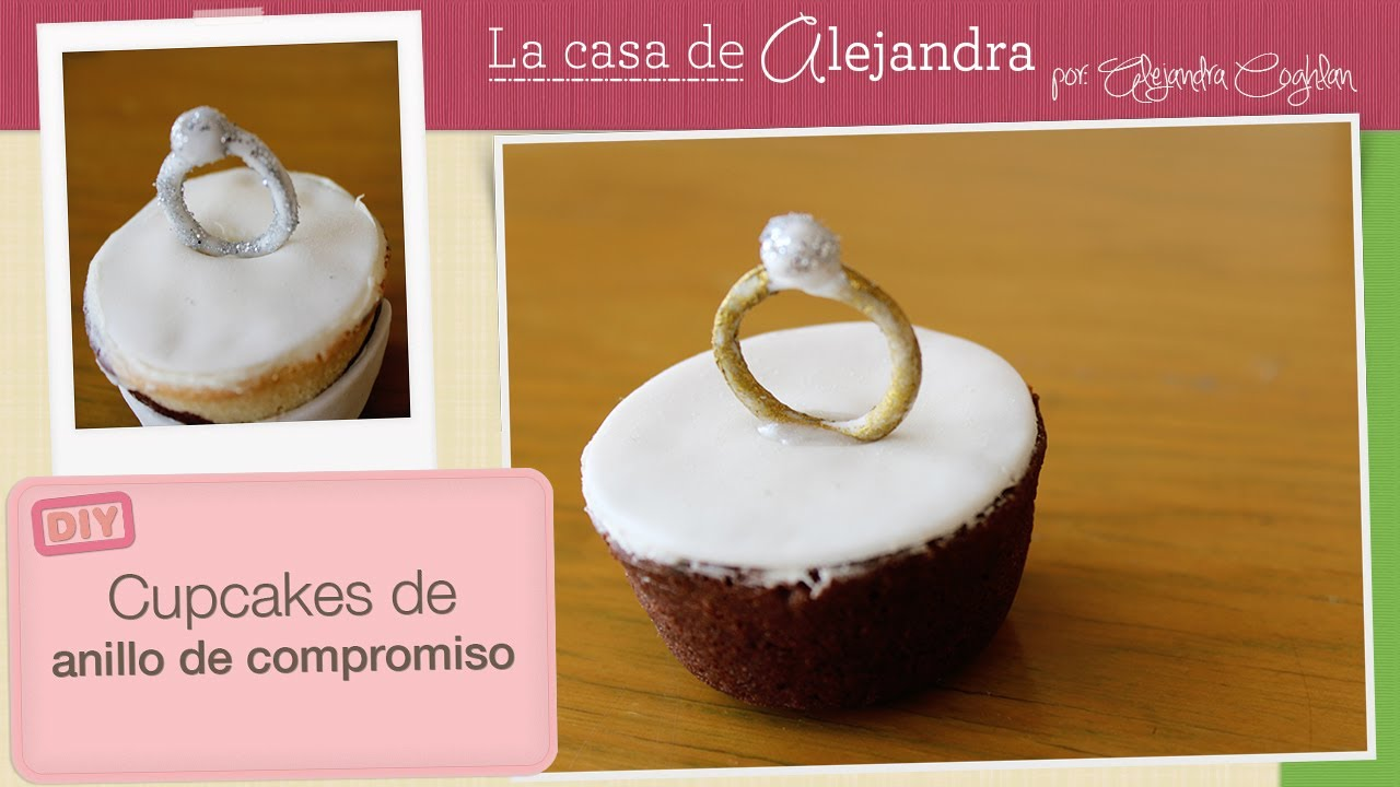 7d3c0a03ec81 Cupcakes de anillo de compromiso - DIY Engagement ring cupcakes - YouTube