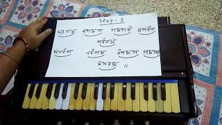 Harmonium Lesson for  Beginners -Step by Step-Part-1- e Music