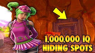 1.000.000 IQ HIDING SPOTS IN FORTNITE BR - BEST HIDDEN GLITCH LOCATIONS ONLY A FEW PLAYERS KNOW!