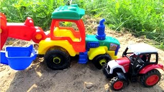 Мультик про трактора. Собираем трактор. Видео с игрушками