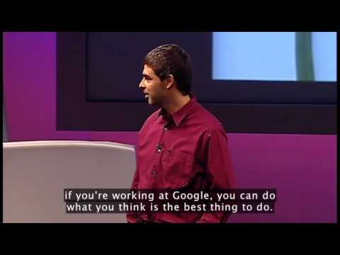Larry Page on Culture at Google Ted Talk Excerpt